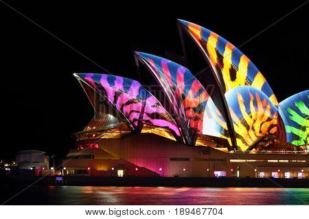 Sydney Opera House  Stripes