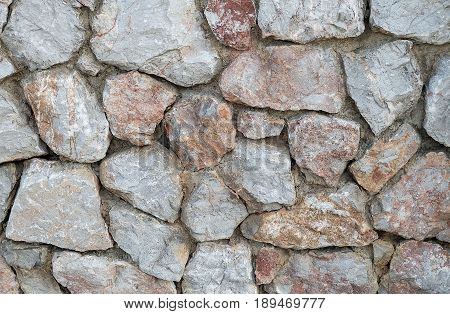 Background Pattern The Horizontal Asymmetrical Stone Wall Background or Texture.