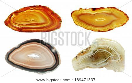 agate chalcedony quartz semigem geological mineral isolated
