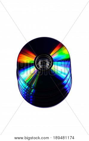Heap Of The Cd Disks Isolated On White