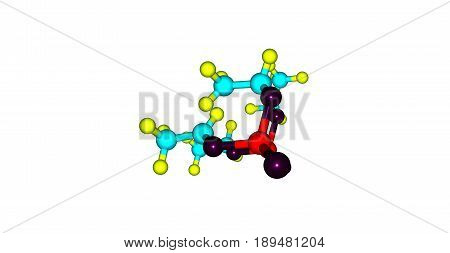 Tetraethyl pyrophosphate or TEPP is an organophosphate compound which is used as an insecticide. This compound is a clear colorless liquid. 3d illustration