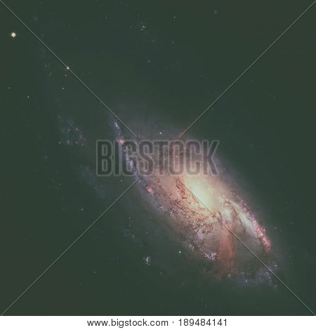 Ngc 4258 Is A Spiral Galaxy In The Constellation Canes Venatici.
