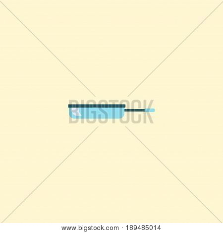 Flat Pan Element. Vector Illustration Of Flat Skillet Isolated On Clean Background. Can Be Used As Skillet, Frying And Pan Symbols.