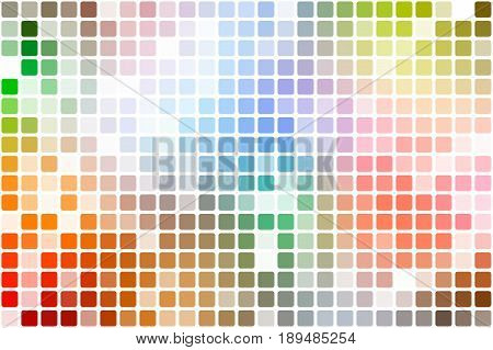 Rainbow Colors Occasional Opacity Mosaic Over White