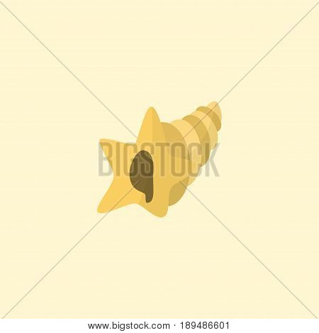 Flat Sink Element. Vector Illustration Of Flat Shell  Isolated On Clean Background. Can Be Used As Shell, Sink And Conch Symbols.