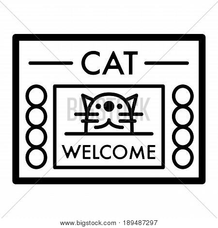 Cat shelter simple vector icon. Black and white illustration of house for Homeless cats. Outline linear icon. eps 10
