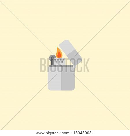 Flat Lighter Element. Vector Illustration Of Flat Cigarette Isolated On Clean Background. Can Be Used As Cigarette, Lighter And Flammable Symbols.