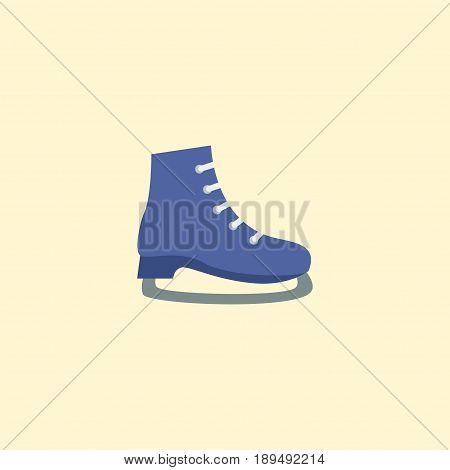 Flat Skates Element. Vector Illustration Of Flat Ice Boot Isolated On Clean Background. Can Be Used As Ice, Boot And Skates Symbols.