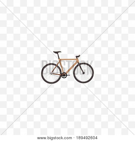 Realistic Wooden Element. Vector Illustration Of Realistic Timbered Isolated On Clean Background. Can Be Used As Timbered, Wooden And Bike Symbols.
