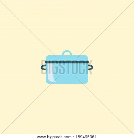 Flat Saucepan Element. Vector Illustration Of Flat Casserole Isolated On Clean Background. Can Be Used As Pan, Saucepan And Casserole Symbols.