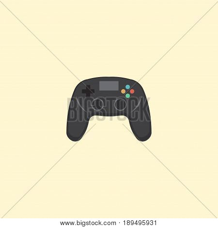 Flat Joystick Element. Vector Illustration Of Flat Controller Isolated On Clean Background. Can Be Used As Joystick, Controller And Game Symbols.