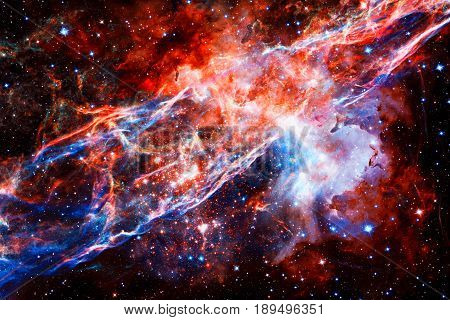 Veil nebula in outer space. Elements of this Image Furnished by NASA