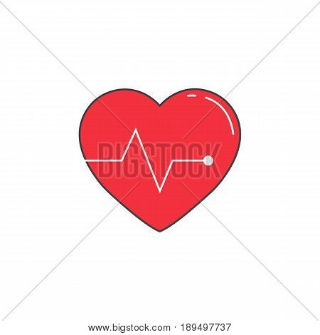 Heartbeat solid icon, cardio, vector graphics, a colorful linear pattern on a white background, eps 10.