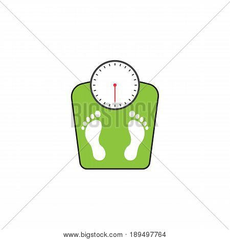 floor scales solid icon, human footprints, vector graphics, a colorful linear pattern on a white background, eps 10.