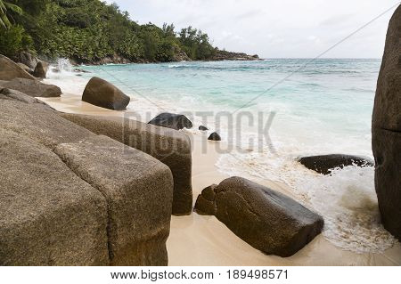 Granit Rocks At Anse Intendance, Seychelles