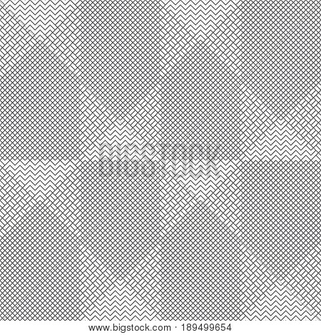 Vector seamless pattern. Modern stylish texture with intersecting thin zigzag lines which form regularly repeating original tiled linear grid. Abstract geometric background