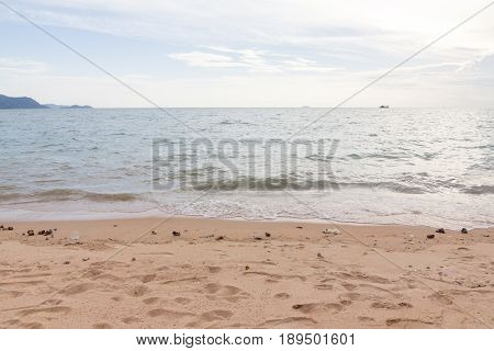 landscape beach and ocean view at Chonburi Thailand