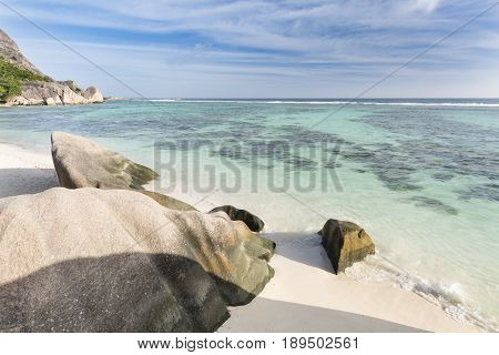 Anse Source D'argent Overview, La Digue, Seychelles