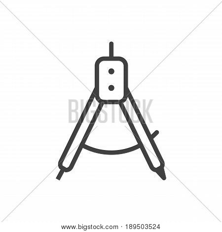 Isolted Magnet Navigator Outline Symbol On Clean Background. Vector Compass Element In Trendy Style.