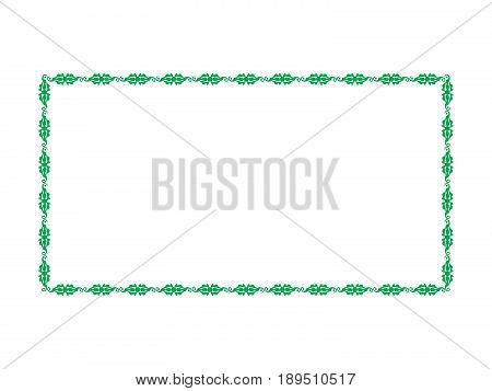 abstract artistic creative floral border vector illustration