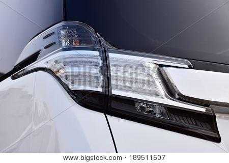 Close up Taillight modern and elegant car. automotive part concept.