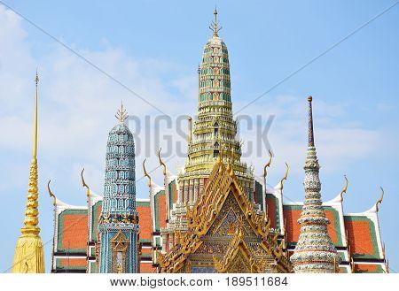 Wat phra kaew Grand palace in Bangkok Thailand.