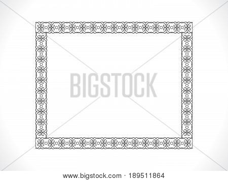 abstract artistic creative floral frame vector illustration