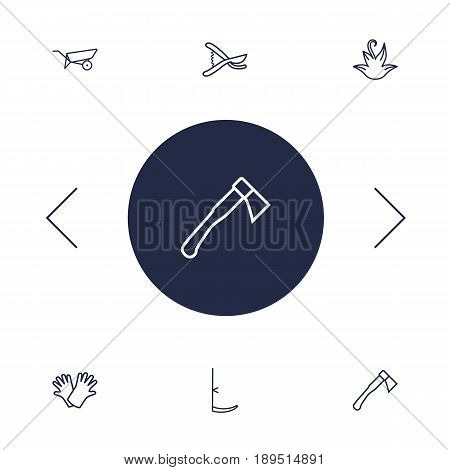 Set Of 6 Farm Outline Icons Set.Collection Of Barrow, Herb, Safer Of Hand Elements.