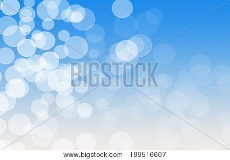 Blue and white soft focus abstract bokeh background depicting sky and clouds