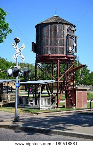 Fort Worth Stockyards - Water Tank for Steam Locomotives