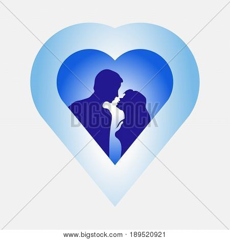 image of love Mister and woman love story passion love heart harmony message icons fully editable vector image