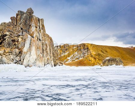View of Olkhon Island in Lake Baikal Russia