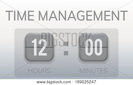 Waste No Time Valuable Management Countdown Timer Graphic