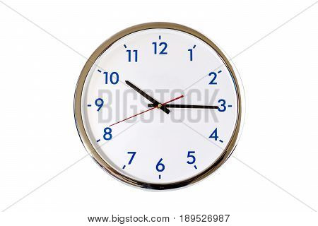 Analog clock isolated on white background with clipping path.