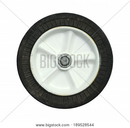 Cart wheel isolated on a white background