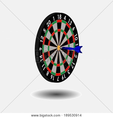 icon target dart darts game fully editable vector image