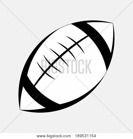 pictogram ball game of American football the game of rugby logo an American sport sport for real Mister fully editable vector image
