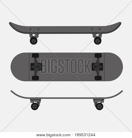 s kind of image skateboard sports stunts skateboarding active lifestyle competition tricks fully editable vector image