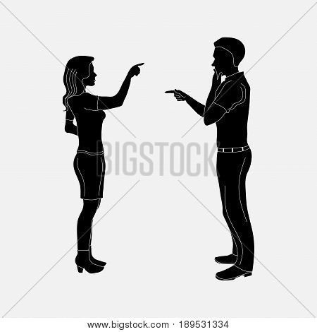 image of mister and women addresing stock Fully editable vector image