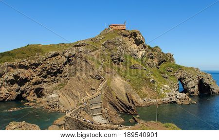 The peculiar surroundings and hermitage of Sant Juan de Gaztelugatxe