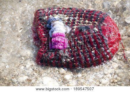 Cap, Materials From Refugees Wash Ashore At Lesvos