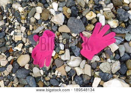 Gloves, Materials From Refugees Wash Ashore At Lesvos