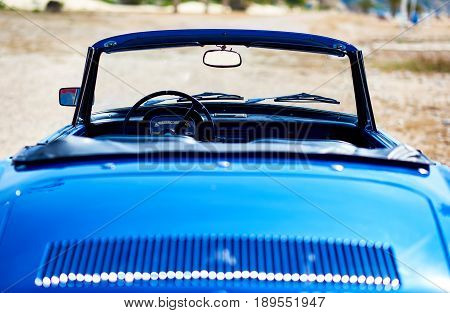 Villajoyosa Spain - May 28 2017: Renault Caravelle or Renault Floride car back view. It is a sports car which was produced by the French manufacturer Renault between 1958 and 1968