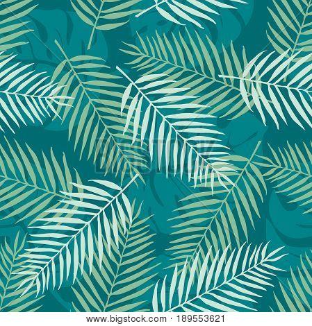 Fashion seamless vector pattern. Tropical leaf. Hawai