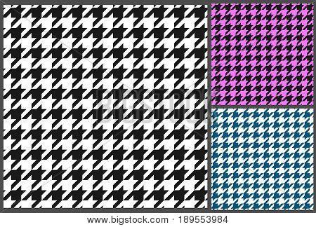 houndstooth seamless pattern, vector illustration, retro design