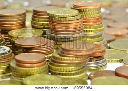 money coins isolated on a white background