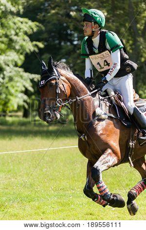 Houghton International Horse Trials Ryuzo Kitajima Riding Feroza Nieuwmoed