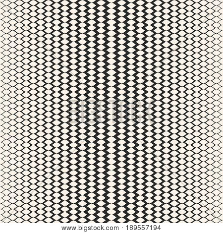 Halftone seamless pattern, vector monochrome texture, gradient transition effect background. Illustration of mesh with gradually thickness. Abstract repeat background. Design for prints seamless pattern, covers, decoration, fabric background, table cloth
