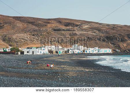Pozo Negro, Fuerteventura, April 02, 2017: Small Fishing Village On Fuerteventura, Canary Island, Sp