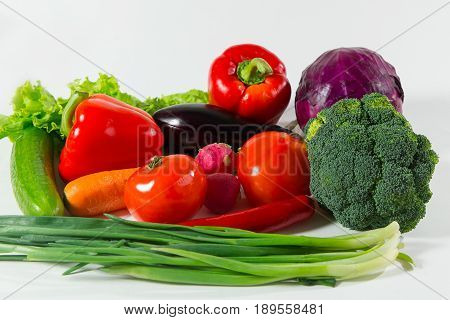 Assortment Of Fresh Vegetables Close Up.